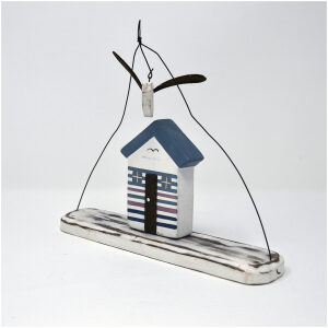 beach hut hanger with seagull mobile