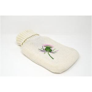 Mini Scottish thistle hot water bottle