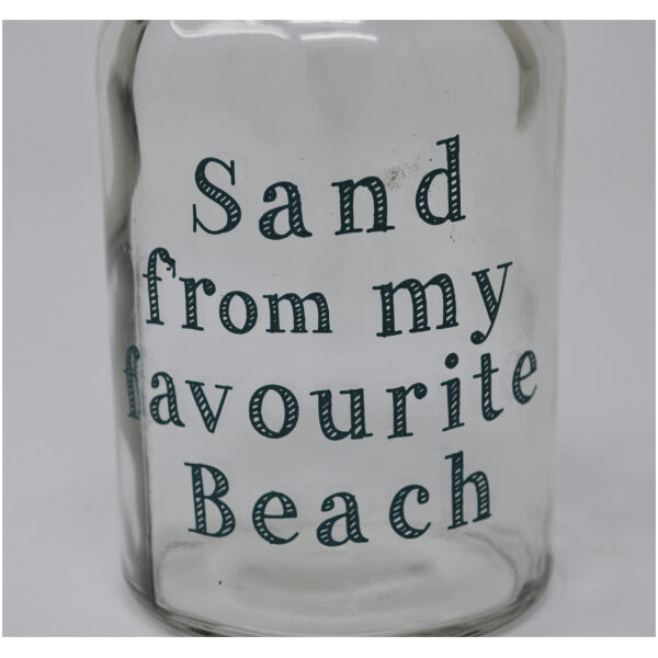 'sand from my favourite beach' bottle