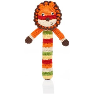fair trade lion baby rattle