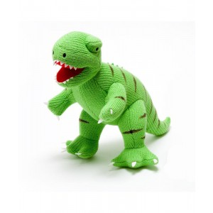 green T-Rex knitted toy