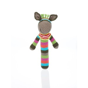 fair trade donkey baby rattle