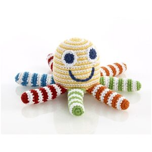pastel octopus rattle toy