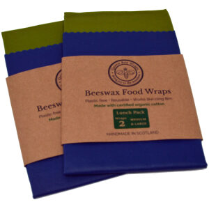 organic cotton beeswax food wraps