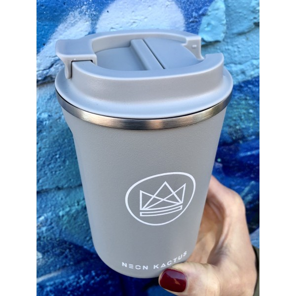 Neon insulated reusable coffee cup