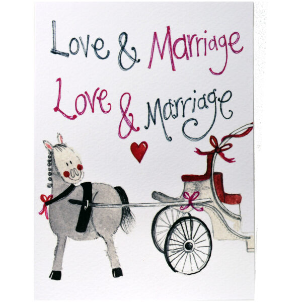 love and marriage greetings card