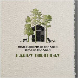 the shed birthday card