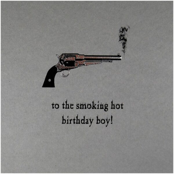 birthday card for the smoking hot man