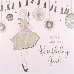 sparkling birthday girl card